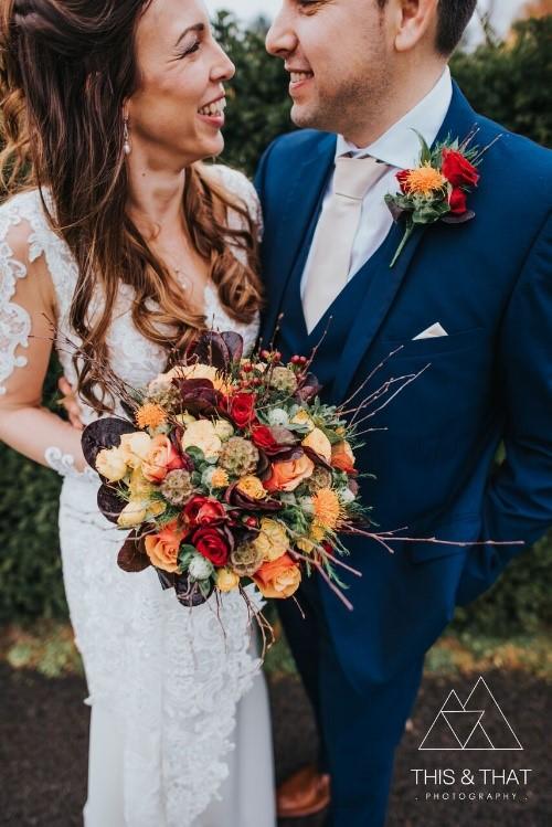 Autumn wedding flowers