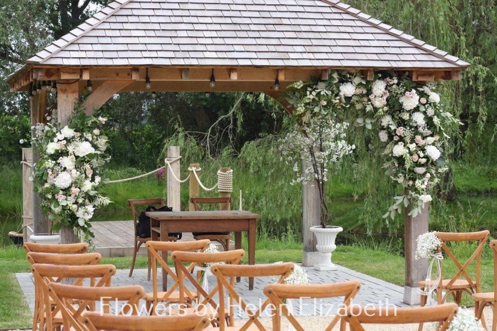 A picture containing outdoor, tree, chair, table at Silchester Farm